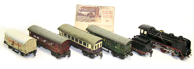 Early Marklin Prewar German Quot O Quot Scale Passenger Train