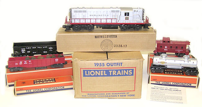 Lionel Burlington Set No 1531w W 2328 6462 125 6456