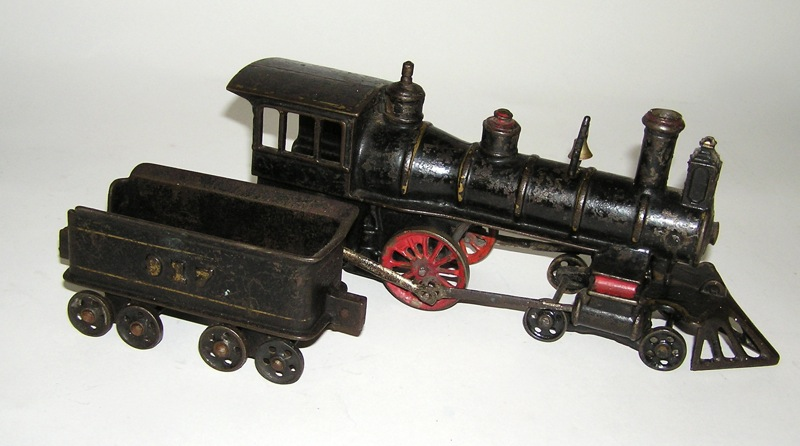 Nycrr Cast Iron Train: Rare Harris Cast Iron Royal Blue Line Floor Train Engine