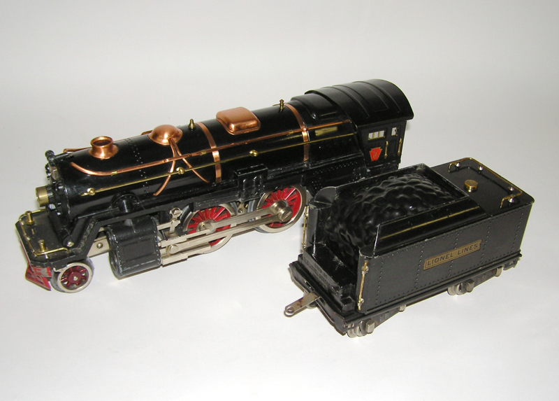 Lionel # 392E Standard Gauge Black Locomotive & 384T Tender