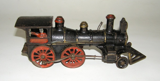 "Nycrr Cast Iron Train: Painted Cast Iron Ideal Locomotive & ""999"" Tender Foor"