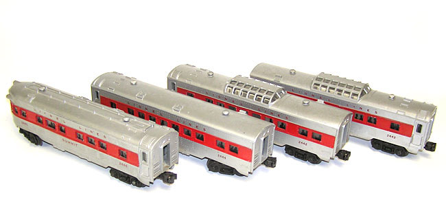 Lionel Train Set 1562 W 2328 2442 2444 2446 Red Stripe